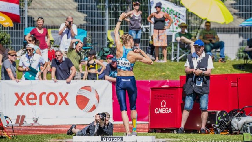 Goetzis, Oesterreich, 27.5.2017, Sport,  Leichtathletik - Hypo Meeting Goetzis. Bild zeigt Alina Shukh (UKR).  27/05/17, Goetzis, Austria, sport, Leichtathletik - Hypo Meeting Goetzis. Image shows Alina Shukh (UKR).
