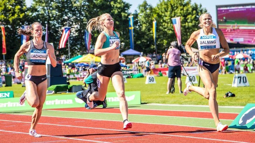 Goetzis, Oesterreich, 28.5.2017, Sport,  Leichtathletik - Hypo Meeting Goetzis. Bild zeigt Katerina Cachova (CZE), Sarah Lagger (AUT) und Bianca Salmig (SWE), 800m.  28/05/17, Goetzis, Austria, sport, Leichtathletik - Hypo Meeting Goetzis. Image shows Katerina Cachova (CZE), Sarah Lagger (AUT) and Bianca Salmig (SWE), 800m.