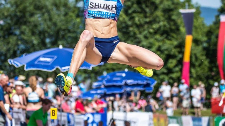 Goetzis, Oesterreich, 28.5.2017, Sport,  Leichtathletik - Hypo Meeting Goetzis. Bild zeigt Alina Shukh (UKR).  28/05/17, Goetzis, Austria, sport, Leichtathletik - Hypo Meeting Goetzis. Image shows Alina Shukh (UKR).