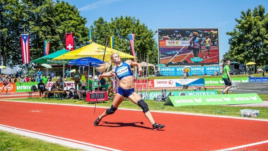 Goetzis, Oesterreich, 28.5.2017, Sport,  Leichtathletik - Hypo Meeting Goetzis. Bild zeigt Mari Klaup (EST).  28/05/17, Goetzis, Austria, sport, Leichtathletik - Hypo Meeting Goetzis. Image shows Mari Klaup (EST).