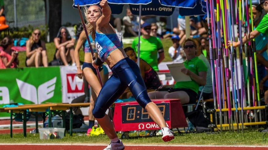 Goetzis, Oesterreich, 28.5.2017, Sport,  Leichtathletik - Hypo Meeting Goetzis. Bild zeigt Ivona Dadic (AUT).  28/05/17, Goetzis, Austria, sport, Leichtathletik - Hypo Meeting Goetzis. Image shows Ivona Dadic (AUT).