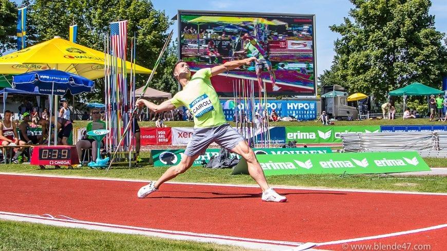 Goetzis, Oesterreich, 28.5.2017, Sport,  Leichtathletik - Hypo Meeting Goetzis. Bild zeigt Simone Carol (ITA).  28/05/17, Goetzis, Austria, sport, Leichtathletik - Hypo Meeting Goetzis. Image shows Simone Carol (ITA).