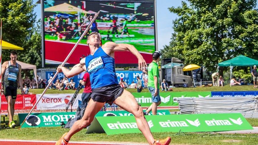 Goetzis, Oesterreich, 28.5.2017, Sport,  Leichtathletik - Hypo Meeting Goetzis. Bild zeigt John Lane (GBR).  28/05/17, Goetzis, Austria, sport, Leichtathletik - Hypo Meeting Goetzis. Image shows John Lane (GBR).